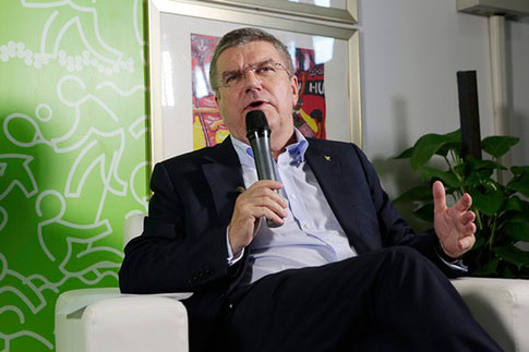 "IOC chief Thomas Bach says he is confident that Nanjing will host ""a successful Youth Olympic Games,"" ahead of the opening on Saturday evening. [Dong Ning/China.org.cn]"