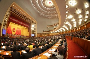 The closing meeting of the third annual session of China's 12th National People's Congress (NPC) is held at the Great Hall of the People in Beijing, capital of China, March 15, 2015.