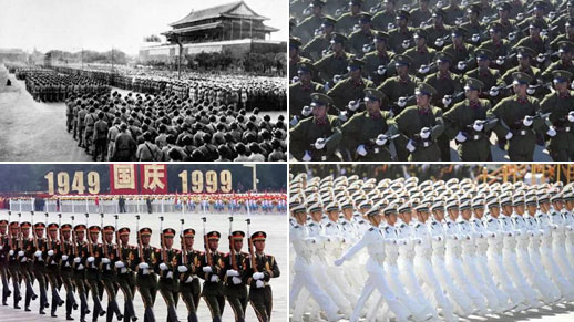 National parade uniforms over the years