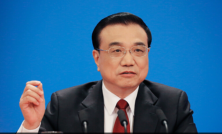 Chinese Premier Li Keqiang is hosting a press conference at the Great Hall of the People in Beijing, capital of China, March 16, 2016.