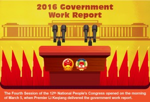 Gov't work report in 2016